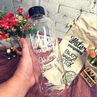韩国pongdang water大容量玻璃杯女士水杯子学生时尚水瓶创意水壶
