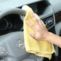 加厚不掉毛汽车擦车巾加大吸水大毛巾超细纤维擦玻璃洗车抹布 30x50cm