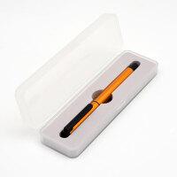 KACO TUBE/智途 宝珠单支条码 签字笔 中性笔 宝珠笔 橙色-黑配 软胶握 水笔 单支小PP盒装 当当自营