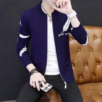 春秋季新款韩版针织衫毛衣男士开衫青少年学生潮流个性外套男