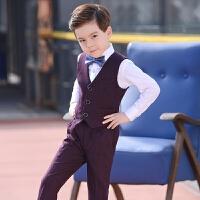 儿童礼服男童马甲套装小西服男孩西装小花童主持人钢琴演出表演服