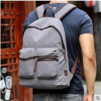 韩版包包男士双肩包旅行包青年帆布背包电脑包个性休闲学生书包