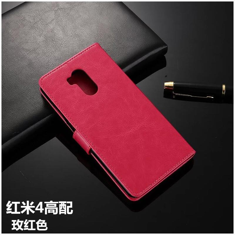 红米4X手机壳 红米4A手机套小米note4X保护套翻盖式皮套note4手机套红米4高配皮套防摔男女