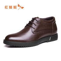 【红蜻蜓618开门红、领�患�100】红蜻蜓男士皮鞋商务正装真皮男鞋春季休闲鞋正品鞋子男