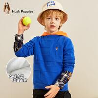 【抢购价:79元】暇步士童装男童线衣秋装新款潮时尚儿童套头毛衣宝宝加绒上衣