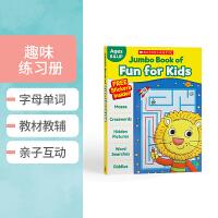 【全店300减100】英文原版 Scholastic Jumbo Book of Fun for Kids 练习册学乐趣