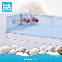 儿童床品床围五件套婴儿床棉品宝宝床透气围床单床笠套件a372