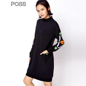 【不退不换】PASS潮牌秋装新款 连衣裙女6632411175