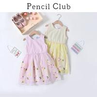 【3件2折价:99.8】铅笔俱乐部童装2019夏装新款女童连衣裙中大童背心裙子儿童公主裙