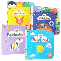 Baby Touch 系列触摸认知书4册 英文原版 幼儿英语启蒙读物 英文版原版书籍 进口纸板翻翻书 3-6岁亲子共读