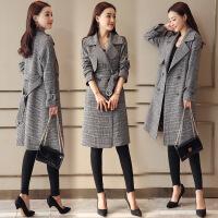 风轩衣度 风衣中长款时尚长袖西装领潮流韩版修身2018年春季新款 8811