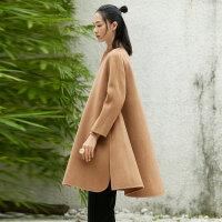 【大牌日,双11提前购】[AMII东方极简] JII AMII 冬装女森系A型双面呢小个子羊毛呢外套女学生
