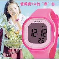 时诺刻/SYNOKE 儿童电子手表 男女学生果冻版电子手表 生活防水硅胶发光电子表