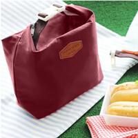 饭盒手提便当包铝箔保温袋加厚午餐包迷你保鲜包防水冰包s6 酒红色
