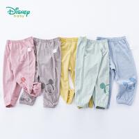 【99元3件】迪士尼Disney童装 儿童米奇印花防蚊裤夏季新品男女童竹节棉裤子空调裤191K834