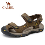 camel  骆驼 2018夏季新品透气休闲凉鞋高弹轻便沙滩鞋魔术贴凉鞋男