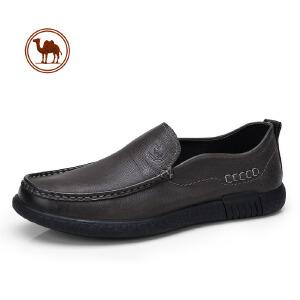骆驼牌男鞋 春季新款男士日常休闲鞋真皮皮鞋懒人鞋子男乐福鞋