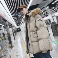 男潮牌冬季中长款棉衣冬天外套韩版