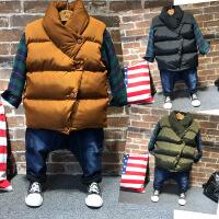 韩版冬季儿童羽绒棉马甲男女童中性厚实拉链无袖小外套A2-B