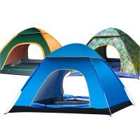 全自动帐篷户外二室一厅3-4人家庭2人单人双人野外露营