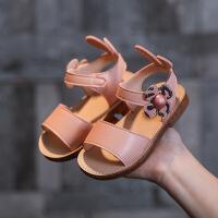 女儿童休闲凉鞋子2019夏季新款韩版小公主沙滩鞋宝宝露趾防滑凉鞋