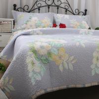 床品斜纹式田园布艺绗缝床盖三件套加厚床单空调被 其它
