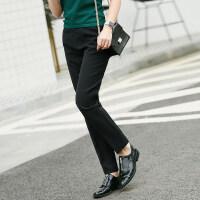 【预估价134元】Amii极简法式ulzzang潮休闲长裤2019夏季新款百搭显瘦四面弹裤子