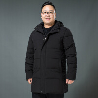 №【2019新款】冬天胖子穿的棉衣男胖子加肥加大码中长款肥佬爸爸装宽松棉袄加厚外套