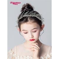 女童公主礼服头花发箍手工配饰花童婚纱儿童节日演出发饰头箍