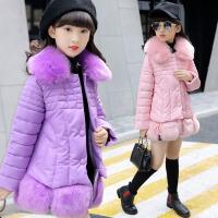 女童棉衣2017新款冬季中长款加厚韩版中大童棉服棉袄冬装儿童外套 BD911