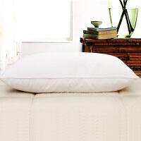 宾馆酒店床上用品枕芯枕头星级兵馆白色旅馆羽丝绒枕1对拍2批发