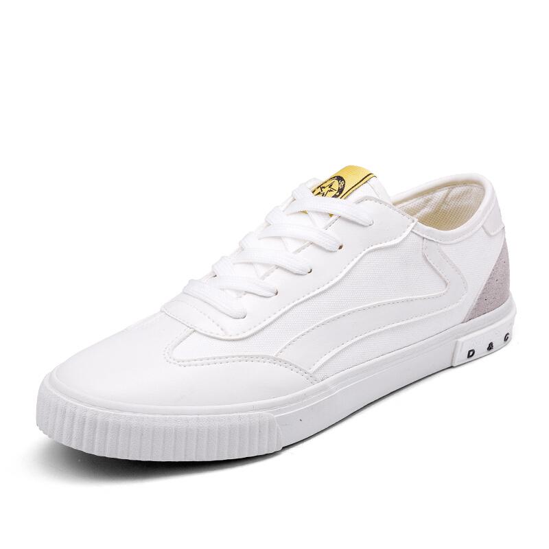 秋季新款帆布鞋男士休闲男鞋韩版经典布鞋运动板鞋学生低帮潮鞋子软底