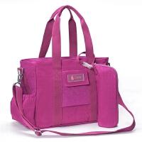 妈咪包/多功能大容量女背包/母婴包/婴儿孕妇外出包待产包/斜跨包 葡萄紫 新款