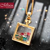 新年礼物Mbox项链 女韩国版原创采用幸运瓶设计时尚锁骨项链配饰品 香水瓶