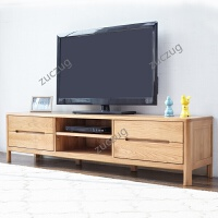 zuczug定制日式纯实木电视柜白橡木地柜小户型带抽屉简约现代客厅家具 整装