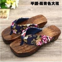 日式女士木屐平底跟人字拖鞋烧桐凉拖鞋女潮 cosplay和服木屐鞋