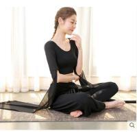 新款时尚瑜伽服套装女运动舞蹈健身修身显瘦运动套装