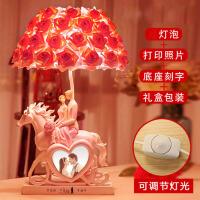 欧式浪漫台灯树脂摆件创意家居婚房卧室装饰品摆设结婚礼物