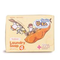 韩国Sanita U-ZA 婴幼儿大豆温和洁净滋润亲肤洗衣皂四联装176g*4
