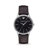 阿玛尼(Emporio Armani)手表 皮质表带男士经典时尚休闲石英腕表时尚腕表 AR2480