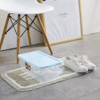 带盖加厚组合塑料透明鞋盒鞋子收纳盒男女鞋盒防潮鞋柜鞋箱 8833透明鞋盒6个装