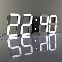 挂钟 客厅现代夜光数字时钟 LED创意电子钟 卧室静音简约时尚钟表 18英寸