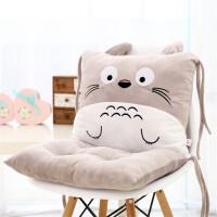 ?卡通靠垫坐垫一体办公室可爱龙猫腰枕大号坐椅垫护腰靠枕靠背?