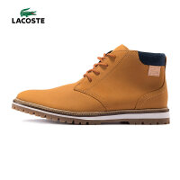 LACOSTE 法国鳄鱼 中高帮皮靴 新款运动休闲鞋 男 潮鞋 30SRM0018