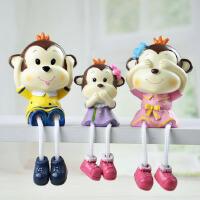 树脂猴子摆件 个性家居装饰品办公室书房摆设品 创意生日礼物实用 小弥猴(一套3个)