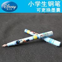 Disney/迪士尼DM0496 蓝色墨囊钢笔套装/短杆 男孩/蓝色笔杆小学生用可擦钢笔可换墨囊正姿练字蓝墨水学习文具