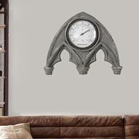 欧式设计创意复古盾牌造型壁挂墙饰新居礼品室内温度计