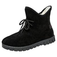 冬季老北京布鞋女鞋女士短靴防滑妈妈棉鞋高帮加绒保暖休闲学生鞋