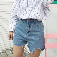 高腰牛仔短裤女夏装2018新款韩版阔腿宽松cic学生不规则百搭热裤