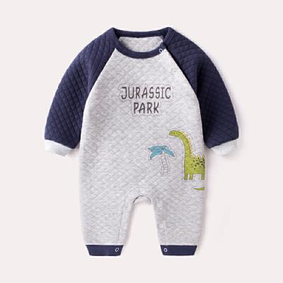 婴儿夹棉连体衣0冬季宝宝外出哈衣3个月新生儿衣服网红婴幼儿冬装   全店商品限时3件7折,一件9折,2件8折。全店商品限时3件7折,一件9折,2件8